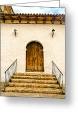 Wooden Colonial Style Door Greeting Card