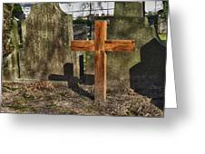 Wooden Cross Greeting Card by Hans Engbers