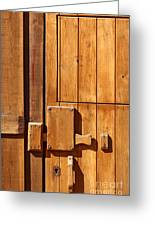 Wooden Door Detail Greeting Card by Carlos Caetano