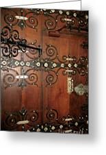 Wooden Doors Greeting Card