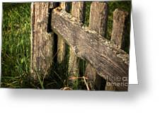 Wooden Fence Fragment Greeting Card