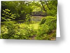 Wooden Foot Bridge Greeting Card