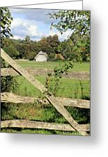 Wooden Gate Sussex Uk Greeting Card