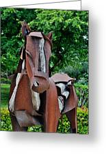 Wooden Horse16 Greeting Card