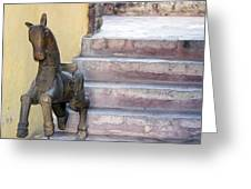 Wooden Horses 2 Greeting Card
