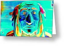 Wooden Indian Greeting Card