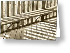 Wooden Lines - Semi Abstract Greeting Card