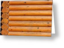 Wooden Logs Wall Background Greeting Card