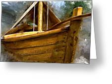 Wooden Mackinaw Boat Greeting Card