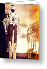 Wooden Man Greeting Card