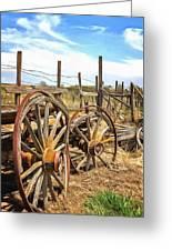 Wooden Ranch Wagon Greeting Card