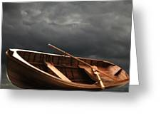 Wooden Rowboat Greeting Card