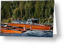 Wooden Runabouts Of Tahoe Greeting Card