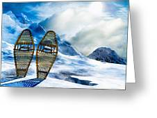 Wooden Snowshoes  Greeting Card by Bob Orsillo