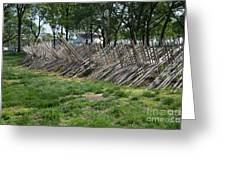 Wooden Spiked Fence Greeting Card