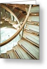 Wooden Staircase Greeting Card