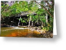 Wooden Suspension Bridge Greeting Card