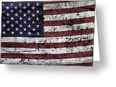 Wooden Textured U. S. A. Flag Greeting Card