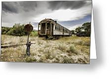 Wooden Train - Final Resting Place  Greeting Card