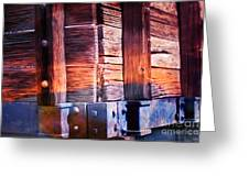 Wooden Wagon Side In Colors Greeting Card