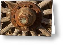 Wooden Wagon Wheel Greeting Card