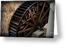 Wooden Water Wheel Greeting Card by Paul Ward