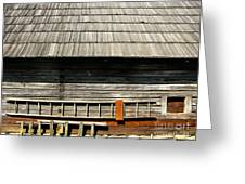 Wooden Window And Roof  Greeting Card