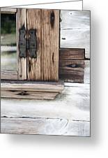 Wooden Window Frame Greeting Card