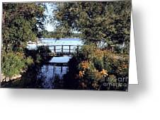 Woodfoot Bridge Of Williams Bay Wi Over Geneva Lake  Greeting Card