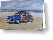 Woodie On Beach Greeting Card