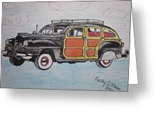 Woodie Station Wagon Greeting Card