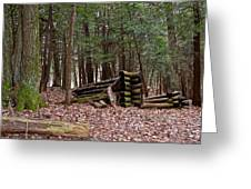 Woodland Cabin Ruins Greeting Card
