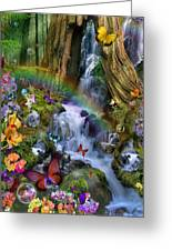 Woodland Forest Fairyland Greeting Card by Alixandra Mullins