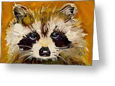 Woodland Racoon Greeting Card