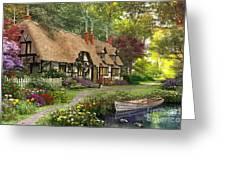 Woodland Walk Cottage Greeting Card