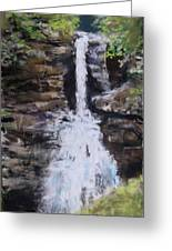 Woodland Waterfall Greeting Card by Jack Skinner
