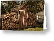 Woodpile And Shed Greeting Card