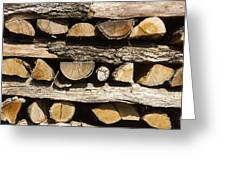 Woodpile. Greeting Card