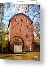 Wood's Grist Mill In Northwest Indiana Greeting Card by Paul Velgos