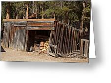 Woodshed On The Holzwarth Historic Site Greeting Card
