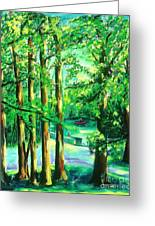 Woodside View Green Greeting Card