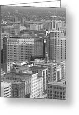 Woodward Avenue Bw Greeting Card