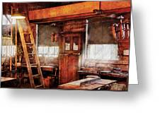 Woodworker - Old Workshop Greeting Card