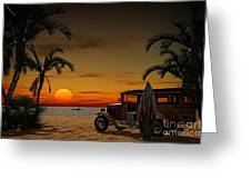 Woody Beach Greeting Card