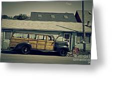Woody Bus Greeting Card by Alana Ranney