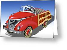 Woody Peddle Car Greeting Card