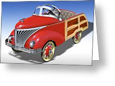 Woody Peddle Car Greeting Card