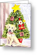 Woof Merry Christmas Greeting Card