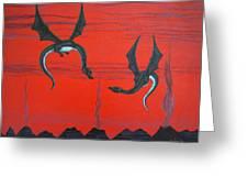 Wooing Dragons Greeting Card