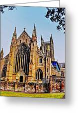 Worcester Cathedral Greeting Card
